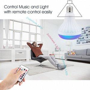Bombilla inteligente E27 LED blanco + RGB bola de luz de la lámpara colorida música inteligente de audio Bluetooth 3.0 Altavoz con control remoto para el hogar, St 3lOF #
