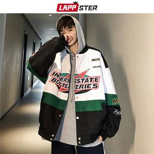 LAPPSTER Männer Patchwork Street Bomber Jackets 2020 Autumn Mens koreanischen Fashions Windjacke Harajuku Hip Hop Jacken Mäntel