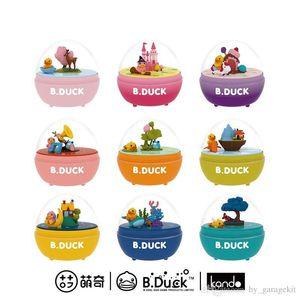 Nueva diversión Pato amarillo divertido Egg Twister Egg espacio viaje caja de música de la vuelta y la caja de música mundo submarino presenta los juguetes