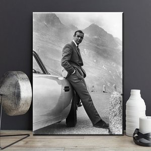 Canvas Painting Wall Posters and Prints Classic Sean Connery Wall Art Pictures For Living Room Decoration Dining Restaurant Hotel Home Decor