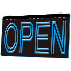 LS004 über Nacht offen Shop-Bar Pub Club-Neonlicht-Zeichen