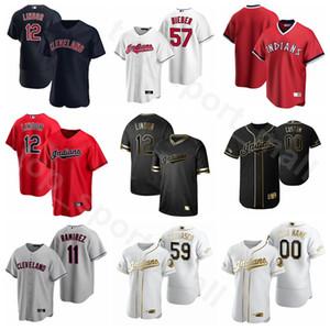 2020 Beyzbol Erkekler Kadınlar Gençlik 40 Bobby Bradley Jersey 11 Jose Ramirez 84 Ernie Clement 4 Bradley Zimmer Rick Vaughn Özel Ad Numara