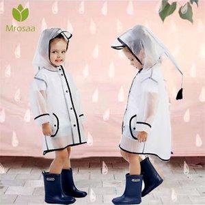 Waterproof Brasão Eva Chuva Mrosaa Menino Crianças Meninas Windproof Poncho Rainwear Rainsuit Kindergarten Baby Kids Raincoat