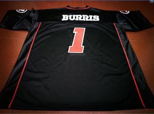 Uomo-donne Ottawa RedBlacks Vintage gioventù # 1 Henry Burris del calcio Jersey formato s-5XL o personalizzato qualsiasi nome o numero di maglia