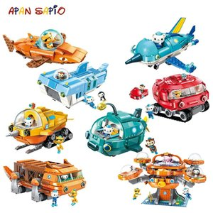 Octonauts Building Block Set Octopod Submarine Boat Educational Game Figure Bricks Toys for Children Compatible with Brands