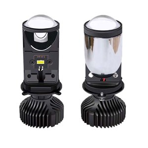 1 Piece LED H4 Motorcycle Headlight Bulb Projector Lens Automobles Lamp Super Bright 6500K 12V 7000Lm