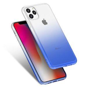 Caixa transparente do telefone do gradiente para iphone 11 xi 5.8inch 2019 caso macio TPU tampa anti-knock para iphone 6 6s 7 8 xs xir 6.1 xi max 6.5 plus