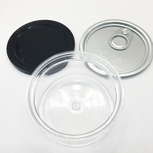 Haustier-Hundenahrungsmittelspeicher-Plastikdosen 3.5grams Easy Pull-Ring-Maschine Seal Dosen Etiketten Benutzerdefinierte Air Tight Food Grade Plastic Cans