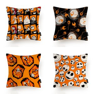 European and American Festival New Halloween Flax Pillow Cover, Home Decoration Pillow Case, for Party Living Room Sofa Cushion