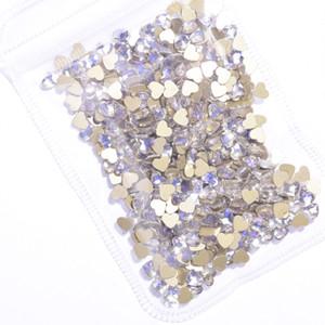 20pcs ongles en cristal clair de lune en verre Pierres Strass Hotfix Non Nail Strass pour Art Décoration Shinny AB Charms JZ16