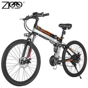 ZPAO 48V 500W de alta potência elétrica Folding bicicleta CE Certificação E bicicleta dobrável Ebike com 3,5 polegadas Big LCD