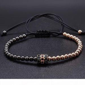 K Cool Summer Zircon Bracelet Bangle Bracelets For Women Gold Caps Micro Pave Cz Beads Twisted Macrame Bracelets Valentine Gift