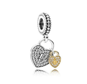 Mother's Day loose beads 925 Sterling Silver Cute Hearts Charm Bead For DIY Chain Bracelet E-packet free shipping