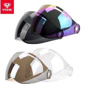 Fashion YOHE MINI Motorcycle Helmet lens Half Face Helmet general original lens Transparent Black Color Blue Casque