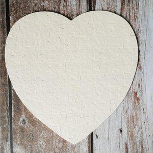 Cuore Vuoto a forma di puzzle 75pieces sublimazione Puzzle in bianco perla puzzle fai da te del partito il giorno di San Valentino di compleanno favore del regalo Seashipping LJJP383