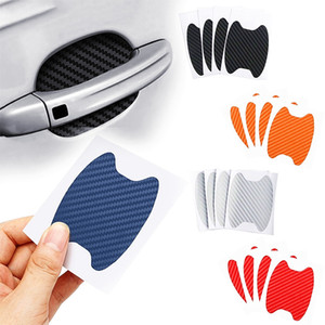 4Pcs Set Car Door Sticker Carbon Fiber Scratches Resistant Cover Auto Handle Protection Film Exterior Styling Accessories