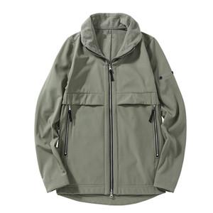 cp topstoney società PIRATA konng gonng autunno nuovo stile bavero della giacca moda soft shell ispessito peluche mens cappotto importati tessuto invernale