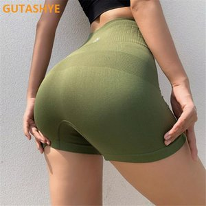 GUTASHYE High waist seamless gym shorts fitness yoga short scrunch buyoga shorts spandex pink short workout legging