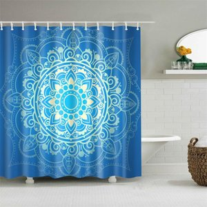 Dafield baño determinado de la decoración cortina de ducha Modelo tribal geométrico y Oranmental azteca Diseño Tela de baño determinado de la decoración