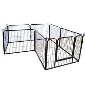 SHIP FROM USA Outdoor Folding Metal Exercise Pen Pet Playpen,16-Panel Heavy Duty Large Dog Fence Cat Puppy Pet Exercise Playpen W24101524
