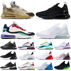 air max airmax 270 react travis scott eng hommes femmes chaussures de course néon triple noir en plein air hommes femmes formateurs sport sneakers coureurs
