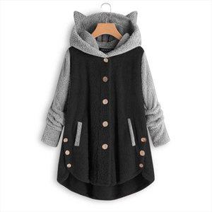 Winter Sherpa Fleece Sweater Women Oversized Teddy Fleece Cute Cat Cardigan Plus Size 5XL Warm Tops Loose Teddy Sweaters