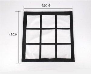 Bricolage Sublimation 9 taie grille 45cm * transfert de chaleur 45cm impression vide pillowslip Squared Up impression par transfert thermique taie d'oreiller A07