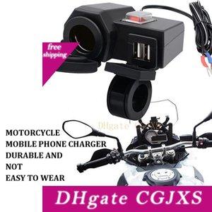 Motocicleta Mobile Phone Charger Cigarette Waterproof Lighter assento duplo Usb1a2 .1a Universal Modificação Acessórios