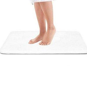 Confortável Coral Velvet Memory Foam Bath Mat antiderrapante absorvente Super Velvet Cozy Banho Rug Tapete