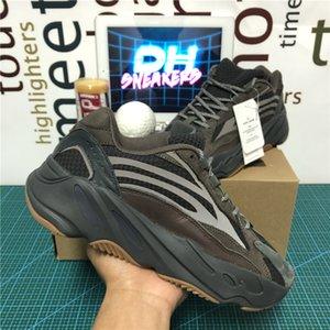 Hohe Qualität Teal Blau-Magnet Kanye West 700 V2 Herren Laufschuhe Tephra Vanta Analog-Dienstprogramm Schwarz Männer Frauen Wave Runner Mauve Sportschuhe
