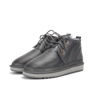 Новый мужской 2020-х снегоступах моды вентилятор зимние ботинки классические мини полусапожки тройной черный темно-бордовый темно-синий Boots меха одна звезда кроссовки