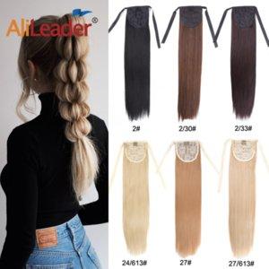 Leeons Синтетический хвостик Наращивание волос клип в Hairpieces Природные Пони волос Хвост Серый Красный Длинные Ponytail 20 дюймов шиньон
