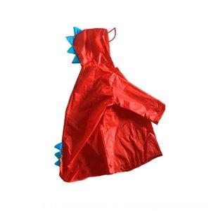 oA6EK ipMPG tridimensional dinossauro pequeno e chuva Cloak alunos gear infância meninos Raincoat capa de chuva meninas impermeável Pu respirável