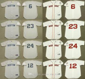 Boston 24 Dwight Evans 12 ELLIS BURKS 6 Bill Buckner 23 DENNIS OIL CAN BOYD T-Shirt, genäht