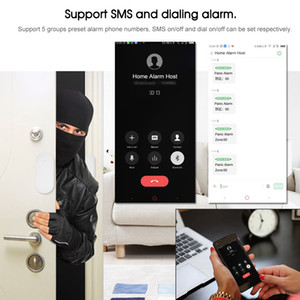 SE Wireless Home Alarms System Rainproof Network Surveillance Camera Blue Siren Motion PIR GSM WIFI Alarmes Kits