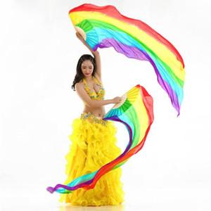 Veil İpek Göbek Dans Fan Veil 1 Çifti (Sol Sağ) 1,8m Uzun Dans Kadınlar