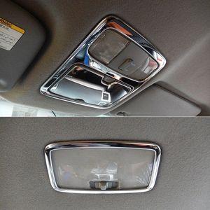 Acciaio inossidabile anteriore e posteriore a soffitto Telaio Tetto disposizione della copertura della lampada di lettura della luce Per Land Cruiser Prado J120 2003 2009 beat auto Interio GNBa #