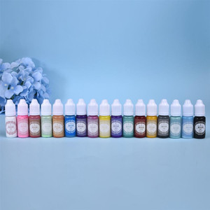 Mold 10g fai da te in resina epossidica pigmento UV silicone inchiostro pigmentato alcool liquido colorante inchiostro colorante di diffusione per fare gioielli in resina