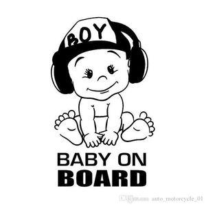 Baby on Board del vinile della decalcomania di auto per auto finestra di divertente freddo sveglio ragazzo disegno impermeabile Nuovo