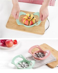stainless steel kitchen gadget multi cutter tool Convenient Apple Fruit Cutter Dicing Slicer Machine multi colors Convenient Apple
