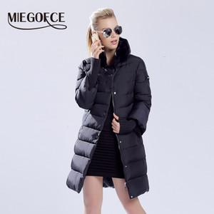 MIEGOFCE 2019 Inverno anatra piumino Donne lungo cappotto caldo parka Spesso Femminile collo di pelliccia vestiti caldi coniglio di qualità C0924 Alta