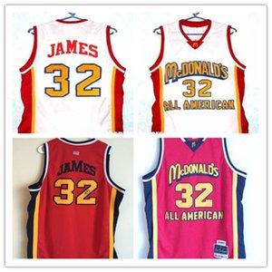Cheap 32 # McDonald All American высокого качества баскетбольного имя игрока Настройка и номер любого размера Мужского Трикотажных