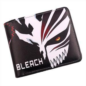BLEACH ICHGO Anime Mask Bifold Holder Credit Card Кошелек Мужчины Студенты Короткое Косплей Кошелек SWGOF