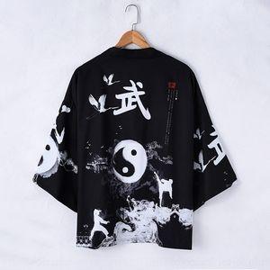 manga kimono chisme bata kimono recortada camisa de traje traje pQQH0 primavera y el otoño de verano nueva Tang Tang suelta cosechado sleeveshirt