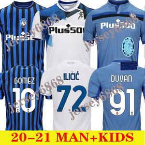 الرجال + الاطفال كيت atalanta لكرة القدم الفانيلة 20 21 غوميز l.muriel ilicic 2020 2021 كرة القدم قميص جديد بيت جديد ثالث كيت دي رون دوفان