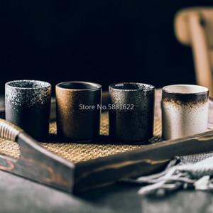 Japanese Style Retro Cup Ceramic Hand Water Cup Sushi Tableware Retro Milk Home Restaurant mug