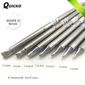 série SHAPE D T12-D52 D4 T12-DL32 D24 D16 T12-D12 D08 Series T12 ponta do ferro Para FX951 STC E STM32 OLED de solda