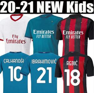 20 21 AC Milan soccer jersey 2020 2021 IBRAHIMOVIC PAQUETA BENNACER REBIC Men Kids kit maglia da calcio ROMAGNOLI CALHANOGLU football shir