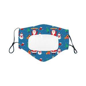 Maschera di lingue per labbro di natale Fashion Trasparente Transparent Facs Maschere Adulto e bambini Maschere di design Xmas GRATUITAMENTE DHL EWF3413