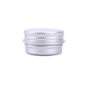 Argento placcato Organizzatore vasi cosmetici di alluminio del metallo Circle casi vuoti lattine spirale Coperchio Discussione Storage Box Tin zucchero del tè trucco 9 C2 5RN